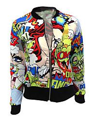 Недорогие -Жен. Куртка Активный - Контрастных цветов Реактивная печать
