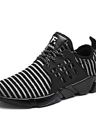 cheap -Men's Rubber Spring / Summer Comfort Athletic Shoes White / Black