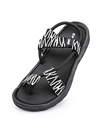 cheap -Men's Shoes Fabric Summer Comfort Sandals Black / Brown / Black / White