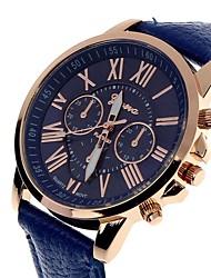 Недорогие -Жен. Наручные часы Кожа Белый / Красный / Оранжевый Секундомер Крупный циферблат Аналоговый Кольцеобразный Цветной - Синий Светло-синий Светло-Зеленый Один год Срок службы батареи / SSUO LR626