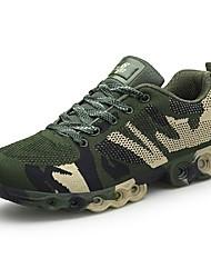 povoljno -Muškarci Cipele Til Mreža Ljeto Svjetleće tenisice Udobne cipele Sneakers Planinarenje za Kauzalni Vanjski Braon Vojska Green Crno-bijeli