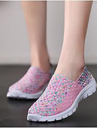 abordables -Femme Chaussures Tulle Printemps / Eté Confort Mocassins et Chaussons+D6148 Talon Plat Bout rond Violet / Fuchsia / Rose