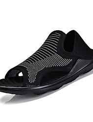 お買い得  -男性用 靴 PUレザー 春 夏 コンフォートシューズ サンダル のために スポーツ ホワイト ブラック