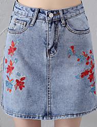 povoljno -Žene Olovka Ulični šik Suknje - Cvjetni print