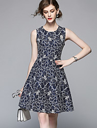 cheap -SHE IN SUN Women's Vintage Basic Skater Dress - Floral Lace