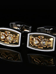 abordables -Forme Géométrique Argent Boutons de manchettes Cuivre Rectangulaire Grande occasion Homme / Tous Bijoux de fantaisie Pour Mariage / Cadeau
