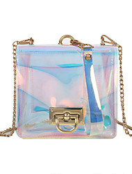 baratos -Mulheres Bolsas PVC Bolsa de Ombro Botões Azul Céu