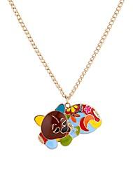 Недорогие -Муж. Cool Собаки Ожерелья с подвесками  -  Животные Готика Цвет радуги 65cm Ожерелье Назначение Официальные Для клуба