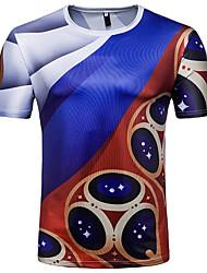 povoljno -Majica s rukavima Muškarci - Ulični šik Dnevno Sport Prugasti uzorak Color block Print