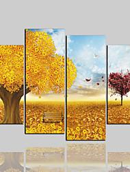 baratos -Cópias da lona laminados clássico moderno, quatro painéis de lona horizontal impressão decoração da parede de decoração para casa