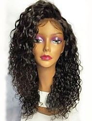 cheap -Unprocessed Wig Brazilian Hair Curly Layered Haircut 130% Density With Baby Hair Natural Hairline Black Short Long Mid Length Women's