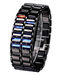cheap -Men's / Women's Wrist Watch / Digital Watch Chinese Calendar / date / day / Chronograph / Luminous Alloy Band Bangle / Cool Black / Silver / Noctilucent / SSUO LR626
