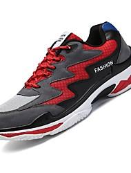 economico -Per uomo Scarpe A rete / Tulle Estate Comoda / Suole leggere Sneakers Corsa / Escursionismo / Corsa campestre Nero / Beige / Nero / Rosso