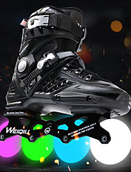 cheap -Men's / Women's Inline Skates Adults Wearable, LED Lights Flashing CNC Thicken Alloy - Gold, White, Black