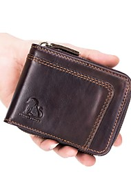 cheap -Men's Bags Leather Coin Purse Zipper Black / Coffee