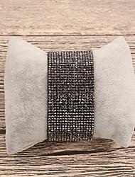 Недорогие -Жен. Кожа Кожаные браслеты - На каждый день Мода нерегулярный Черный Браслеты Назначение Подарок Повседневные