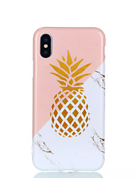 economico -Custodia Per Apple iPhone X / iPhone 8 Resistente agli urti / IMD / Fantasia / disegno Per retro Frutta / Effetto marmo Morbido TPU per iPhone X / iPhone 8 Plus / iPhone 8