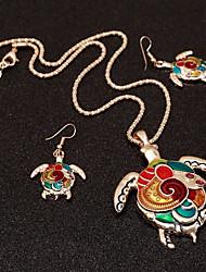 Недорогие -Жен. Комплект ювелирных изделий Черепаха Этнический, Цветной Включают Цвет радуги Назначение Для клуба Бар