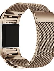 abordables -Bracelet de Montre  pour Fitbit Charge 2 Fitbit Bracelet Milanais Acier Inoxydable Sangle de Poignet