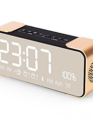 cheap -PTH305 Bluetooth Speaker Wireless Stereo Aluminum Portable FM Radio Altavoz Support Time clock Alarm Clock TF Card