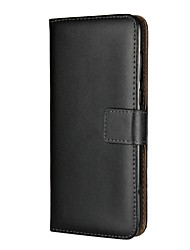 Недорогие -Кейс для Назначение Huawei Honor 9 Lite Enjoy 7S Бумажник для карт со стендом Флип Чехол Однотонный Твердый Кожа PU для Huawei Honor 9