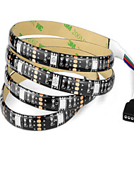 cheap -1m RGB Strip Lights 30 LEDs 1 DC Cables RGB Cuttable / Waterproof / Decorative 5 V / USB Powered / IP65 / Linkable / Self-adhesive