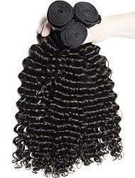 cheap -Brazilian Hair Curly / Deep Wave Unprocessed Human Hair / Virgin Human Hair Gifts / Brands Outlet 3 Bundles Human Hair Weaves Extention / Hot Sale / For Black Women Natural Black Human Hair Extensions