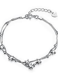 abordables -Femme Zircon S925 argent sterling Etoile 1pc Chaînes & Bracelets - Mode Argent Bracelet Pour Cadeau Quotidien