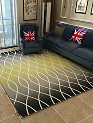 baratos -Os tapetes da área Forma Geométrica Mistura de Algodão / Poliéster, Rectângular Qualidade superior Tapete