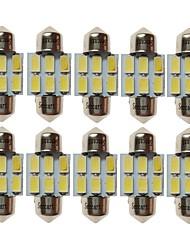 preiswerte -SENCART T10 Auto Leuchtbirnen 3W SMD 5730 180lm 6 LED Lampe Glühbirnen Innenbeleuchtung For Universal Alle Jahre