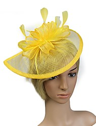 cheap -Flax Headpiece with Feather 1pc Wedding / Special Occasion Headpiece