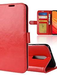 billiga -fodral Till OnePlus OnePlus 6 / OnePlus 5T Plånbok / Korthållare / Lucka Fodral Enfärgad Hårt PU läder för OnePlus 6 / One Plus 5 / OnePlus 5T