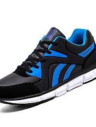 baratos -Mulheres Sapatos Courino Outono Conforto Tênis Sem Salto Ponta Redonda Branco / Preto / Preto / Vermelho / Black / azul