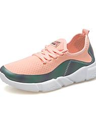baratos -Mulheres Sapatos Micofibra Sintética PU Couro Ecológico Tule Verão Outono Conforto Tênis Caminhada Ciclismo Corrida Sem Salto Dedo