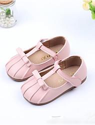 Недорогие -Девочки Обувь Полиуретан Осень Удобная обувь Топ-сайдеры для на открытом воздухе Черный Красный Розовый