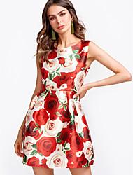 cheap -Dreamy Land Women's Sheath Dress - Floral Mini