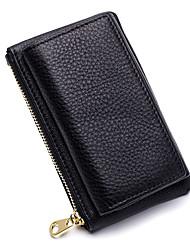 cheap -Women's Bags Genuine Leather Coin Purse Zipper Black / Blushing Pink / Fuchsia