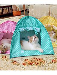 economico -Prodotti per cani / Prodotti per gatti Animali domestici Lenzuola A pois Ripiegabile / Tenda / Facile da applicare Giallo / Verde / Rosa
