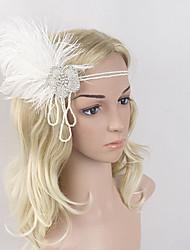economico -Grande Gatsby Vintage / Stile anni '20 Costume Per donna Fascia per capelli da ballerina charleston Bianco Vintage Cosplay Pelle Senza