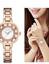 cheap -Women's Dress Watch / Wrist Watch Chinese New Design / Casual Watch / Imitation Diamond Alloy Band Fashion / Elegant Silver / Gold / Rose Gold / Sony SR920SW / Two Years