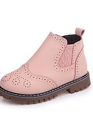 baratos -Para Meninas Sapatos Couro Ecológico Outono Botas de Neve Botas Elástico para Ao ar livre Branco Vermelho Rosa claro