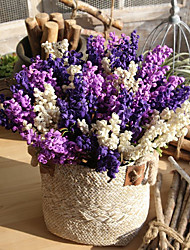 cheap -Artificial Flowers 8 Branch Simple Style / Modern Lavender / Eternal Flower Tabletop Flower