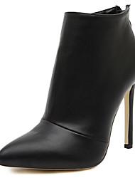 abordables -Femme Chaussures Polyuréthane / Synthétique Printemps / Automne hiver Botillons / Escarpin Basique / Gladiateur Bottes Talon Aiguille