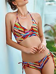abordables -Femme Bikinis Arc-en-ciel Slip Brésilien