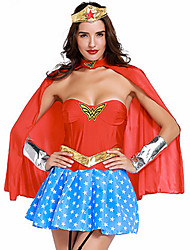 cheap -Super Heroes Warrior Cosplay Costume Party Costume Women's Christmas Halloween Carnival New Year Festival / Holiday Halloween Costumes