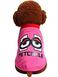 cheap -Dogs Cats Pets Shirt / T-Shirt Dog Clothes British Quotes & Sayings Cartoon Fuchsia Blue Cotton / Polyester Costume For Pets Female Japan