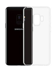 abordables -Funda Para Samsung Galaxy S9 Plus Transparente Funda Trasera Un Color Suave TPU para S9 Plus