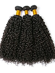 cheap -Indian Hair Curly Natural Color Hair Weaves / Human Hair Extensions 3 Bundles Human Hair Weaves Best Quality / New Arrival / For Black Women Natural Black Human Hair Extensions Women's