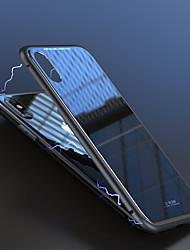 abordables -Coque Pour Apple iPhone X / iPhone 8 / iPhone 8 Plus Antichoc / Magnétique Coque Couleur Pleine Dur Verre Trempé / Aluminium pour iPhone