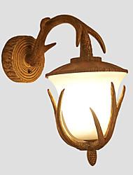 baratos -Fosco Vintage / Regional Luminárias de parede Sala de Jantar / Quarto de Estudo / Escritório / Interior Resina Luz de parede 110-120V /